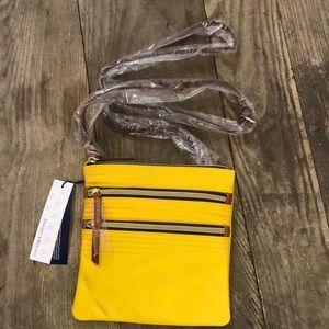 Brand new Dooney & Bourke Triple Zip Handbag